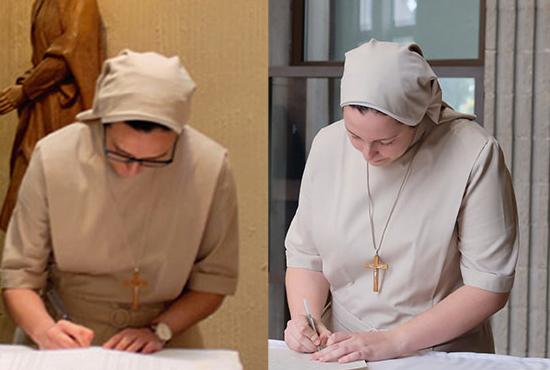 Firma de la renovación Elena y Anabel